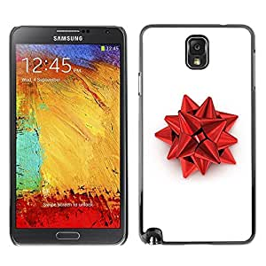 LECELL -- Funda protectora / Cubierta / Piel For Samsung Galaxy Note 3 N9000 N9002 N9005 -- Red Christmas Decoration --