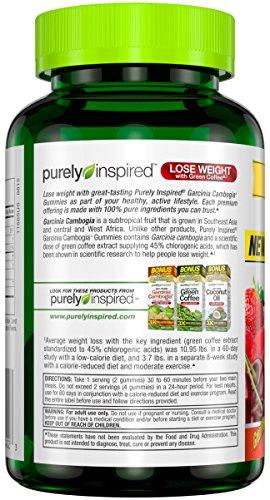 Purely Inspired Garcinia Cambogia Gummies Weight Loss Supplement, Fruit Burst