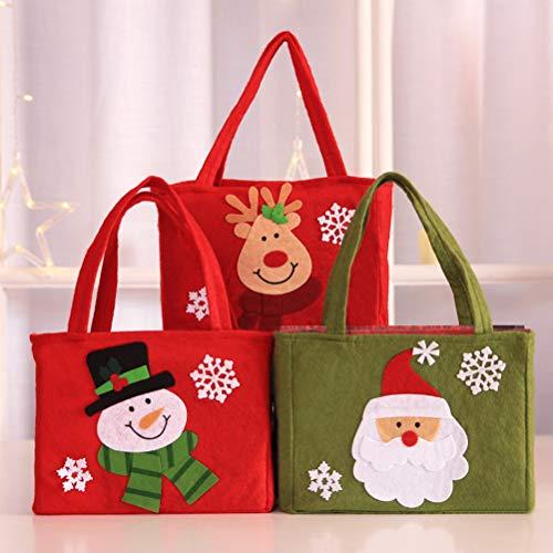 Decoración Muñeco 3pcs Navidad Bolso Bestoyard La Caramelo Del Fiesta Nieve De Copo pYa4WnUZ4