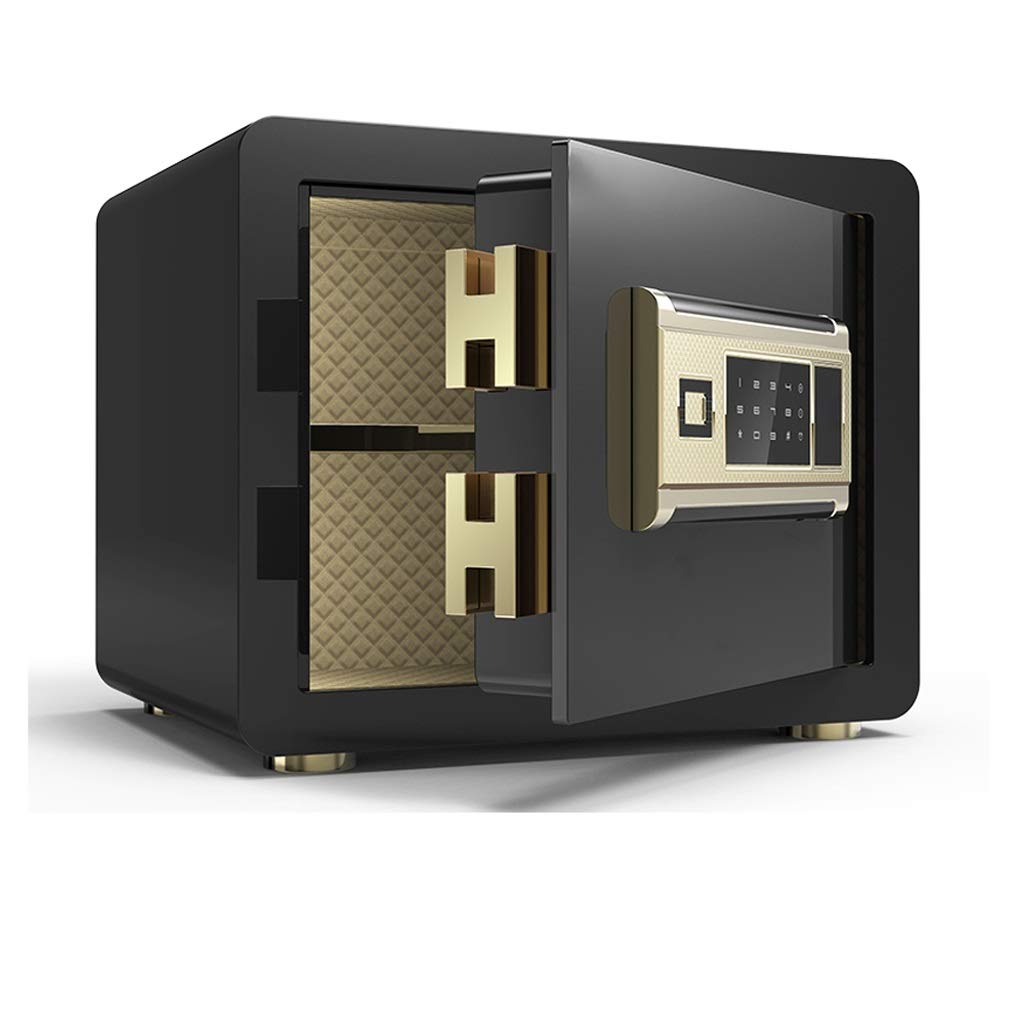 Boxes & Organisers Fingerprint Digital Electronic Safe New Explosion-Proof Lock Bolt Fire Anti-Theft Password 350250250mm Can Be Wall Mounted Gold (Color : B)