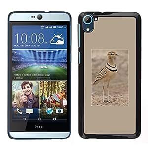 Pájaro del verano arena Cartel Marrón Naturaleza- Metal de aluminio y de plástico duro Caja del teléfono - Negro - HTC Desire D826