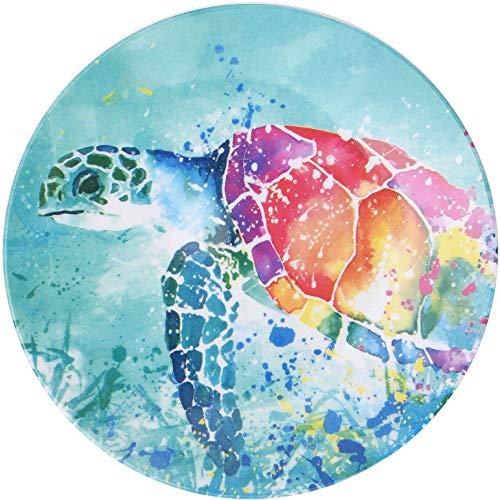 Tropix Splash Sea Turtle Appetizer Plate One Size Blue/pink/orange/yellow