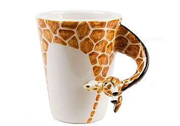 Amazon.com | Giraffe Handmade Coffee Mug (10cm x 8cm): Coffee Cups ...