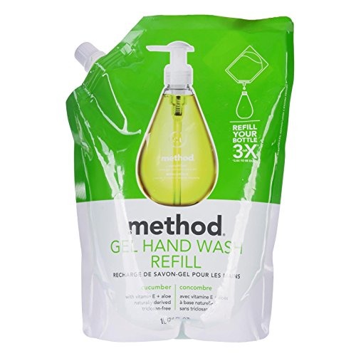 method Gel Hand Wash Refill Pouch, Cucumber, 34 oz