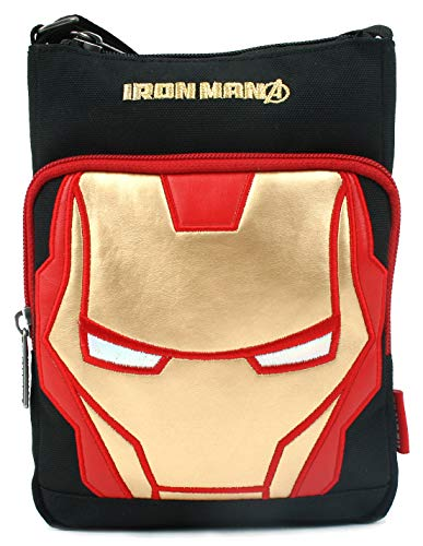 MARVEL Avengers Ironman Face Cross Body Bag Messenger Shoulder Phone Bag
