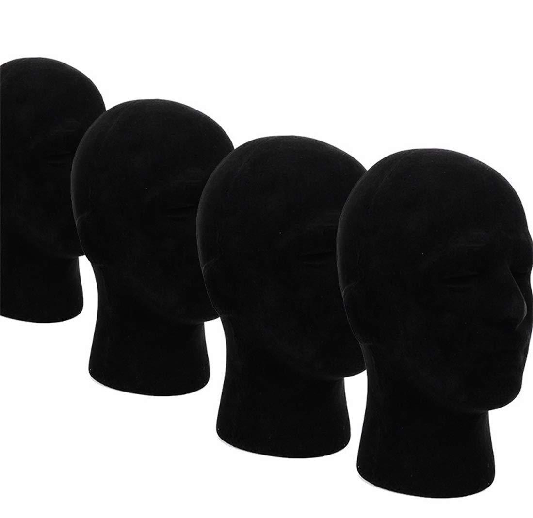 1 Pcs Female Styrofoam Mannequin Manikin Head Model Foam Wigs Hats Hairpieces Style Model Display (Black) by do.Cross (Image #4)