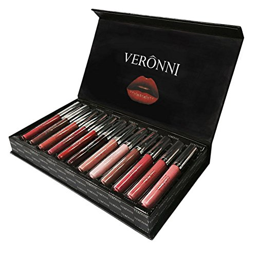 Matte Liquid Lipstick, Ochine Waterproof Long-Lasting 12pcs Pigmented Lip Gloss Set