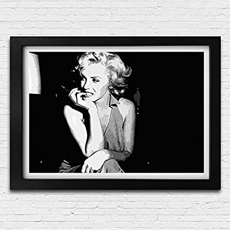 Marilyn Monroe Movie Film Poster Black White Framed Print Picture