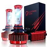 LIGHTENING DARK H11 LED Headlight Bulbs, CREE XPL H8 H9 Conversion Kit 6000K Cool White 7200 Lumen - 3 Yr...
