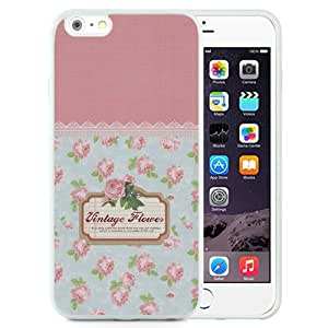 "Hot Sale iPhone 6 Plus 5.5"" TPU Cover Case ,Vintage Flowers Pattern Sign White iPhone 6 Plus 5.5"" TPU Phone Case Unique And Fashion Design"