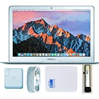 2017 Apple Macbook air MQD32LL/A 13 Screen 1.8Ghz Intel Core i5, 8GB RAM, 128GB SSD, Silver, Bundle with Hottech Express Cloth and Brush