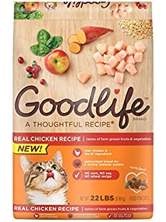 Amazon goodlife adult indoor chicken recipe dry cat food 16 goodlife dry food for cats chicken recipe 22 lbs bag pack of 1 forumfinder Choice Image