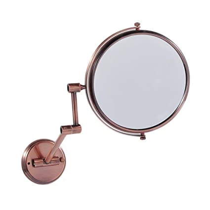 Vintage Style 8u0026quot; Inches Wall Mounted Bathroom Mirror Magnifying Dual  Arm Extend Make Up Mirror