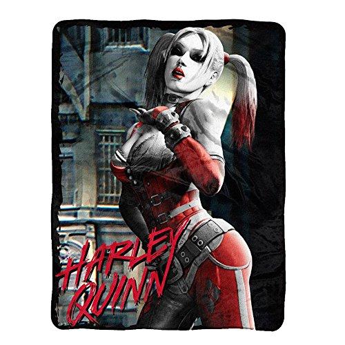 Batman Arkham City Harley Quinn Fleece Throw Blanket (Batman Arkham City Harley Quinn)