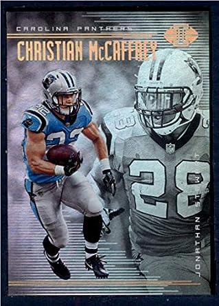 Amazon.com  2018 Panini Illusions Football  44 Christian McCaffrey Jonathan  Stewart Carolina Panthers Official NFL Trading Card  Collectibles   Fine Art 1d6e9ed35