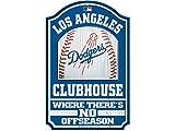 "WinCraft MLB Los Angeles Dodgers 28734012 Wood Sign, 11"" x 17"", Black"