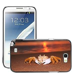 Cas Coq Case Cover // M00421724 Siri Playa Amanecer // Samsung Galaxy Note 2 II N7100