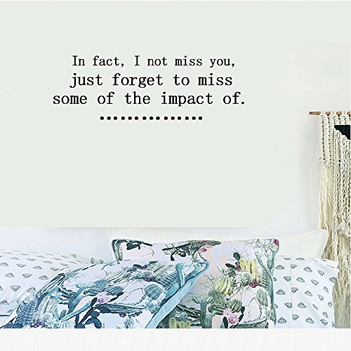In fact, I not miss you, just forget to miss some of the impact of. Vinyl Wall Art Inspirational Quotes and Saying Home decor Decal Sticker Size: 15'' X - Phoenix In Outlet
