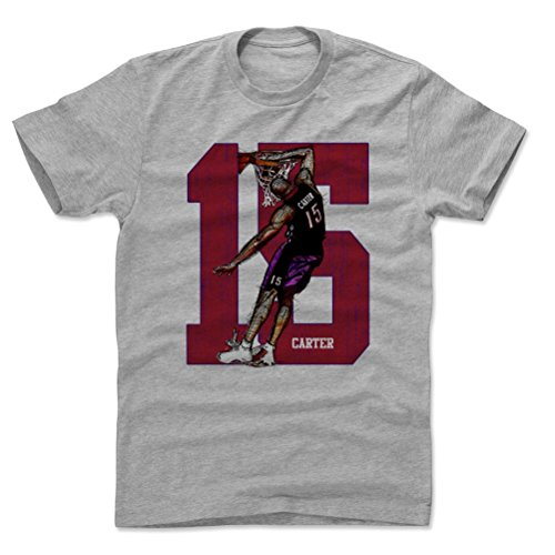 Carter Basketball Vince (500 LEVEL Vince Carter Cotton Shirt Large Heather Gray - Vintage Toronto Basketball Men's Apparel - Vince Carter 15 Honey Dip R)