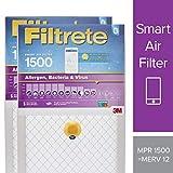 Filtrete 16x20x1 Smart Air Filter, MPR 1500, Allergen, Bacteria & Virus AC Furnace Air Filter, 2-Pack