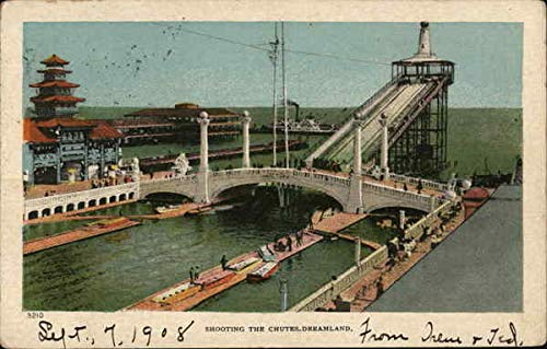Coney Island Dreamland (Dreamland - Shooting the Chutes, Coney Island New York, New York Original Vintage Postcard)