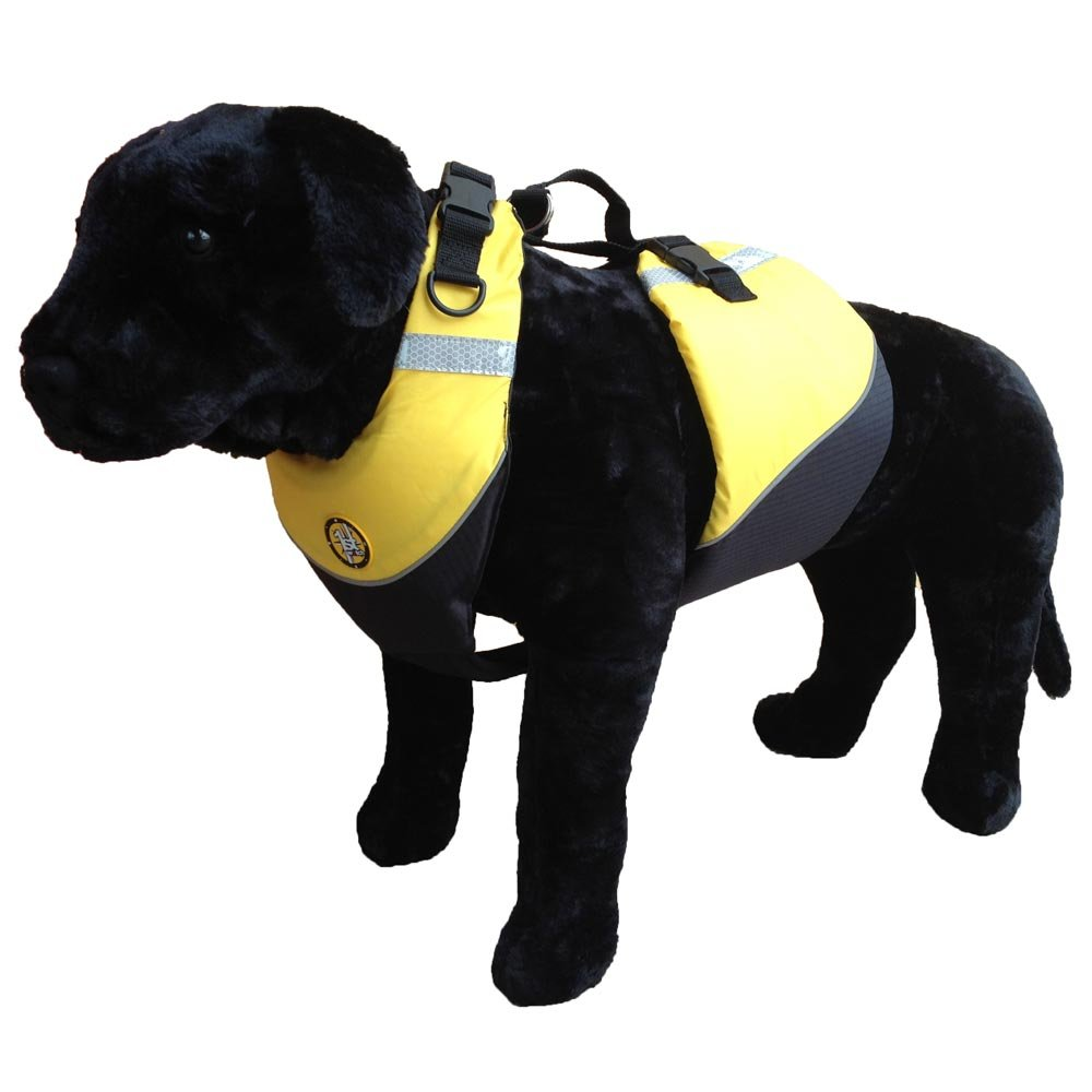 First Watch Flotation Dog Vest - Hi-Visibility Yellow - Medium by First Watch   B00RUN135G