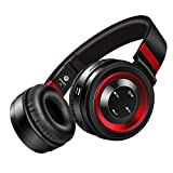 Bluetooth Headphones, Darkiron P6 Headphones Over Ear with Built-in Mic HD Stereo Sound Noise Reduction Wireless Headsets with Volume Control Foldable and Wired Mode for PC/Cell Phones/TV