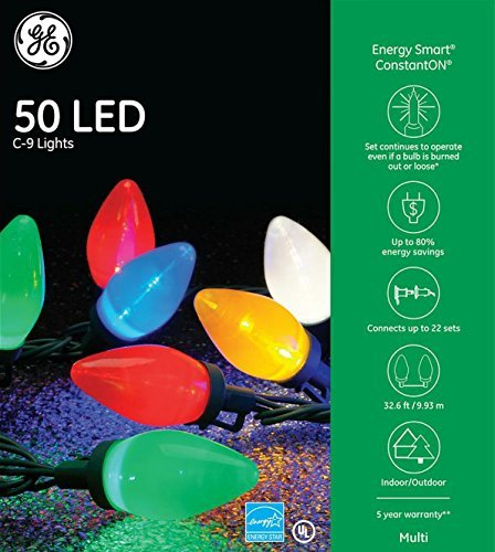 GE Energy Smart Colorite LED 50-Light C9 Traditional Light Set - Multi by Nicholas Holiday Inc