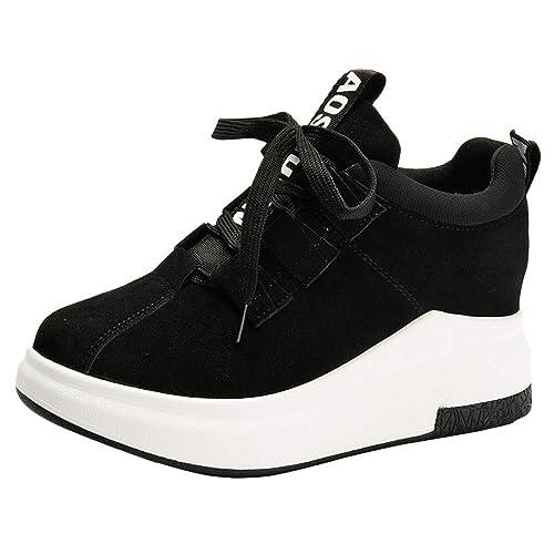 Zapatillas Deportivas Plataforma para Mujer, QinMM Zapatos Gym Running con Cordones Alpargatas Deportes: Amazon.es: Zapatos y complementos