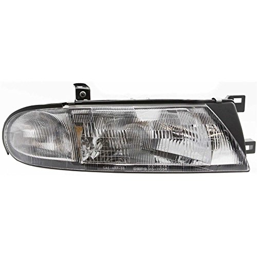 Headlight Compatible with Nissan Altima 93-97 RH Assembly Halogen w/Side Marker XE/GXE Models w/Bulb(s) Passenger Side