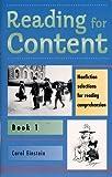 Reading for Content Book 1, Carol Einstein, 0838816517