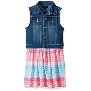Limited Too Girls' Woven Vest and Knit Dress Set