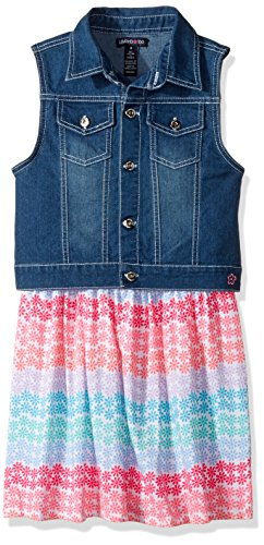 Limited Too Girls' Big Woven Vest and Knit Dress Set, KY86 Multi, 10