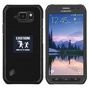 """Be-Star Único Patrón Plástico Duro Fundas Cover Cubre Hard Case Cover Para Samsung Galaxy S6 active / SM-G890 (NOT S6) ( Precaución Símbolo Slogan Cita Zombis Señal"""" )"""