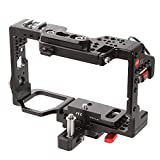 JTZ DP30 JL-JS7 Camera Cage with Quick Relase Plate and Hot Shoe for Sony A9&A7R III Dslr Camera Flash Speedlite