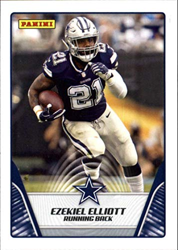 2019 Panini NFL Sticker Standard Sized Trading Card Base Insert #13 Ezekiel Elliott Dallas Cowboys (Standard Size Non-Sticker Football Trading Card) from Football Card