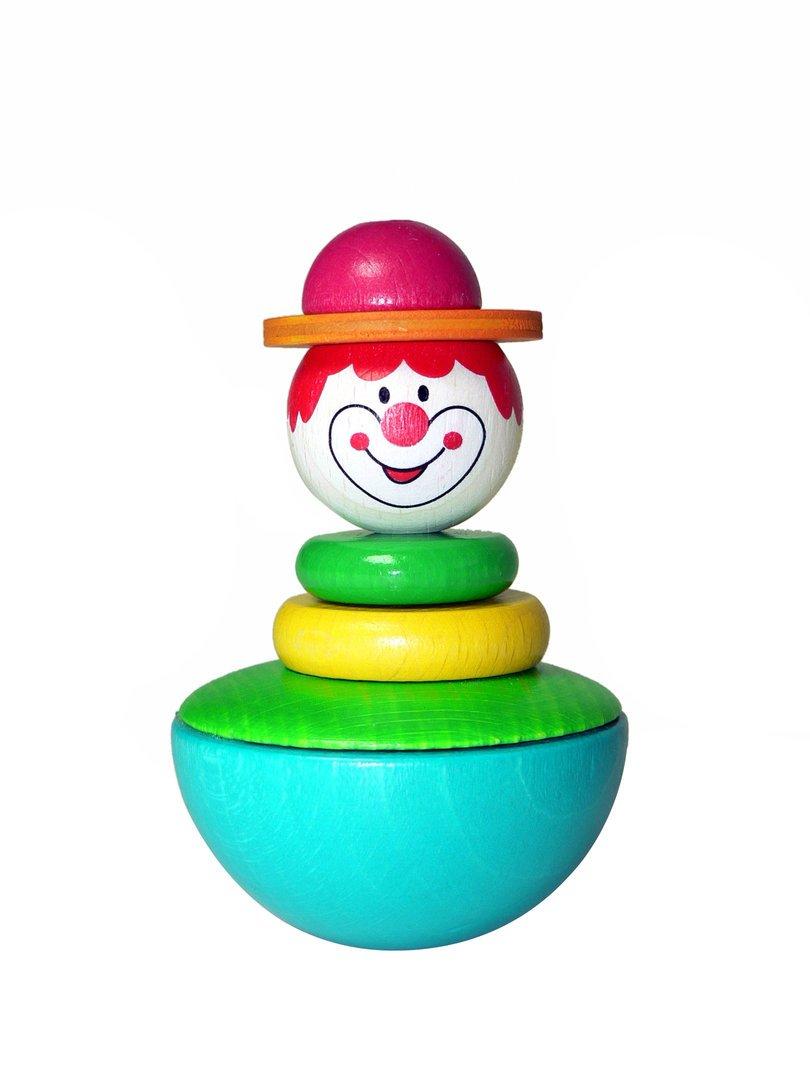 Stehaufmännchen Clown 80 x 50 x 50 NEU Wackelmännchen Stehaufpuppe Stehaufffigur Hess-Spielzeug