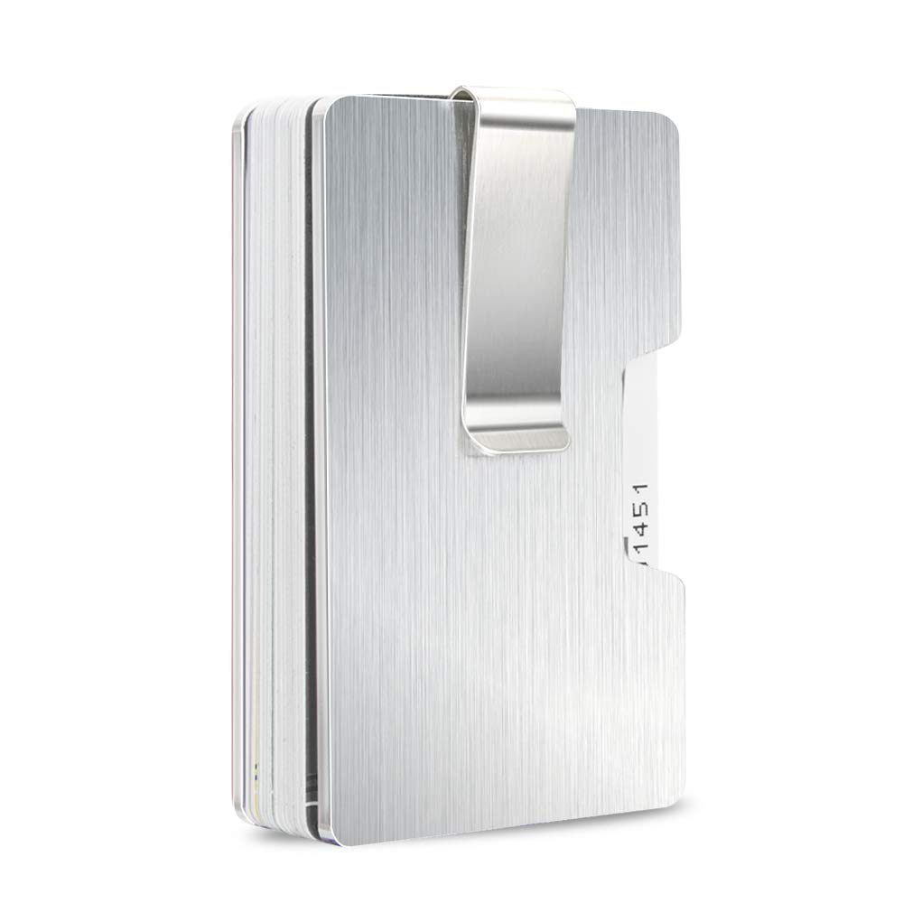 Money Clip, Slim Aluminium Credit Card Business Card Holder for Women Men- Up to 15 Cards/RFID Blocking
