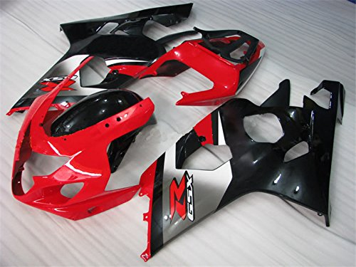 Price comparison product image 2004 2005 Injection Fairing Fit for SUZUKI GSXR600 GSX-R750 Black Red Plastic Bodyframe