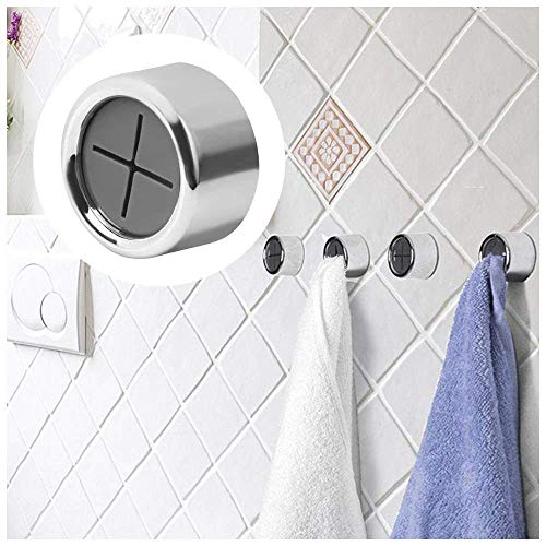 Towel Hook Holder Grabber for Kitchen, Bathroom, Garage or RV. Self Adhesive and Easy to Install. Great for Hair Towels…
