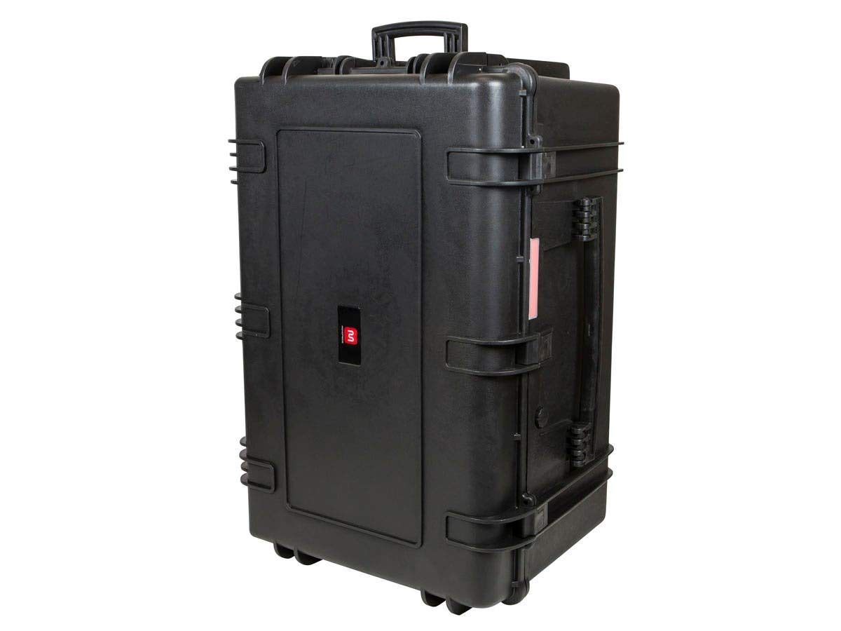 Monoprice Weatherproof/Shockproof Hard Case with Wheels - Black IP67 Level dust and Water Protection up to 1 Meter Depth with Customizable Foam, 33'' x 22'' x 17'' by Monoprice