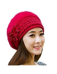 822fb3681a4c25 RICHTOER Women Slouch Baggy Winter Warm Knit Crochet Beanie Hat Cap Beret