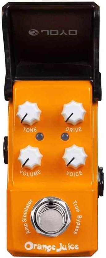 JF-310 Jugo de naranja Efecto de distorsión Pedal de guitarra Procesador Simulador de amplificador Efectos True Bypass Accesorios de guitarra eléctrica