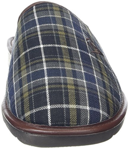 Dunlop Herren Acelet Hausschuhe Grey (Grey/Navy Check)