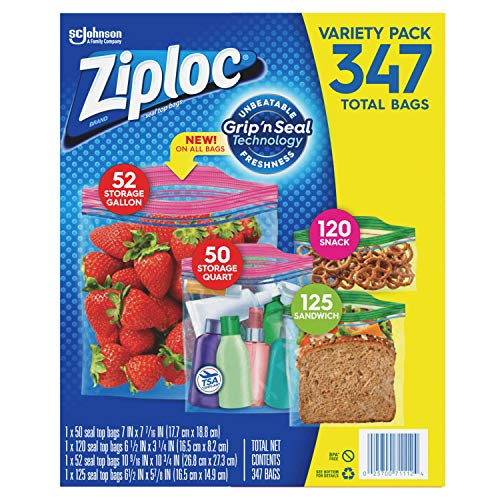 A Ziplic Variety Pack (4 Sizes Variety, 347 Count,)