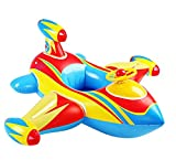 Topwon SUMMER FUN Swimming Toy - Kids Pool Float Airplane Float for Toddler,Party Tube Pool Raft (Inflatable Plane - Blue)