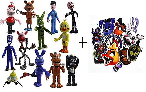"""(Five Nights at Freddy's Toys – FNAF Action Figures – Freddy Dolls Cake Toppers – Max Fun Set of 12 Troll Dolls – 100% PVC Material – 4"""" Tall FNAF Figurines – Cool Present for Videogame Players)"""