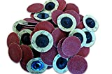 (50pc) Rogue River Tools 2'' Quick-Change Sanding Discs (Type - R) (60 Grit)