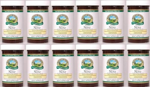 Naturessunshine Nature's Noni Supports Joint Health Herbal Combination Supplement 100 Capsules (Pack of 12) by Natures Sunshine