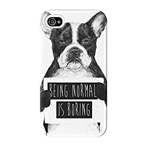 Being Normal Is Boring Full Wrap High Quality 3D Printed Case for iPhone 4 / 4s by Balazs Solti + FREE Crystal Clear Screen Protector